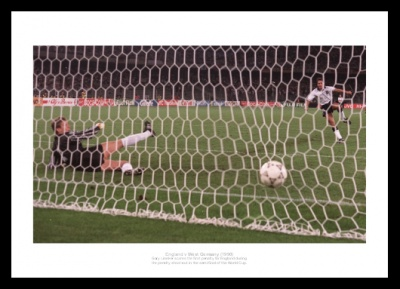 England 1990 World Cup Lineker Penalty Shoot Out Photo Memorabilia