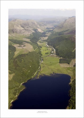 Lake District Ennerdale Water Aerial Landscape Photograph