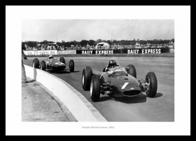 Graham Hill 1963 Silverstone Grand Prix Photo Memorabilia