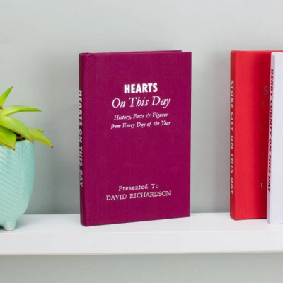 Personalised Hearts FC 'On This Day' Book