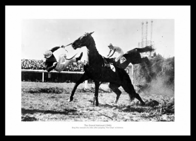Grand National The Chair 1946 Horse Racing Photo Memorabilia
