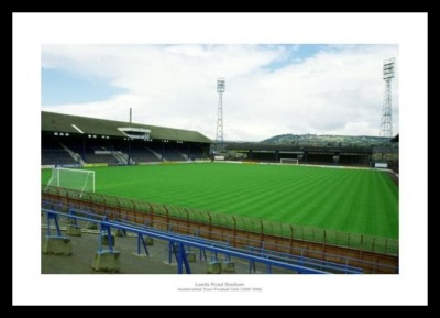 Huddersfield Town Leeds Road Stadium Historic Photo Memorabilia