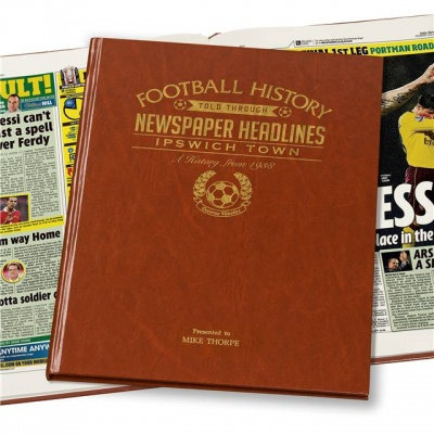 Personalised Ipswich Town Historic Newspaper Memorabilia Book