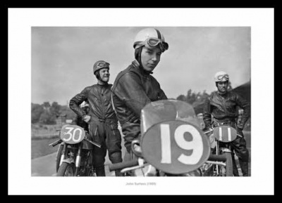 John Surtees Motorsport Legend 1955 Photo Memorabilia
