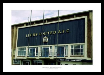 Leeds United Elland Road Main Stand Entrance 1970s Photo Memorabilia