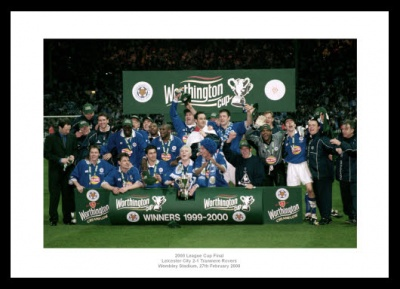 Leicester City 2000 League Cup Final Team Photo Memorabilia