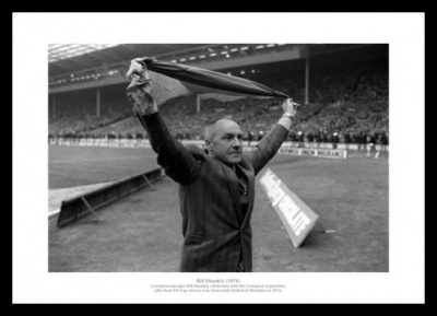 Bill Shankly Liverpool 1974 FA Cup Final Photo Memorabilia