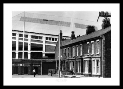 Liverpool FC Outside Anfield Stadium 1980 Photo Memorabilia
