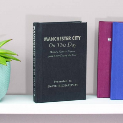 Personalised Manchester City 'On This Day' Book