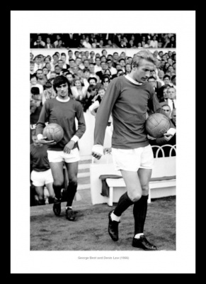 Manchester United Legends George Best & Denis Law Photo Memorabilia