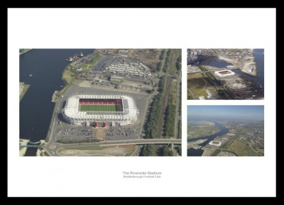 Middlesbrough FC Riverside Stadium Aerial Photo Memorabilia