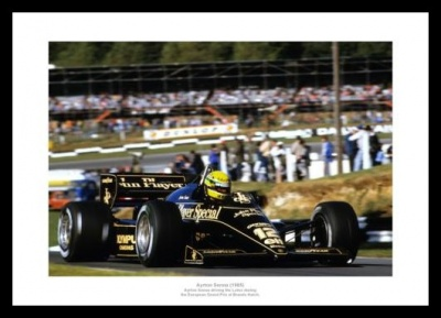 Ayrton Senna Brands Hatch 1985 Formula One Photo Memorabilia