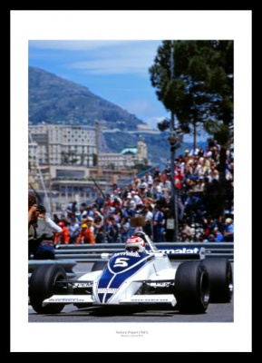 Nelson Piquet 1981 Monaco Grand Prix Photo Memorabilia