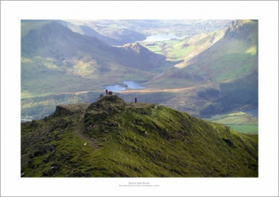 Mount Snowdon Peak & Valleys Aerial Landscape Photograph