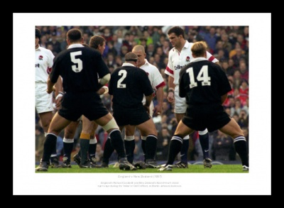 England Rugby Team Face the Haka 1997 Photo Memorabilia