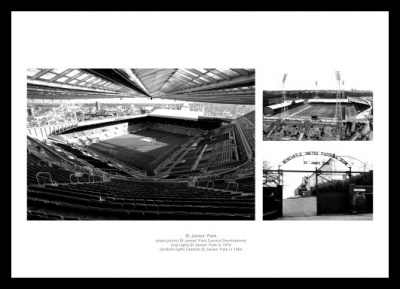 Newcastle United St James Park Past and Present Photo Memorabilia