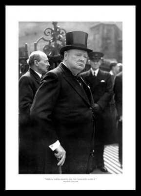 Winston Churchill Classic Quote 1945 Photo