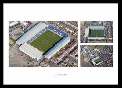 Portsmouth FC Fratton Park Stadium Aerial Photo Memorabilia