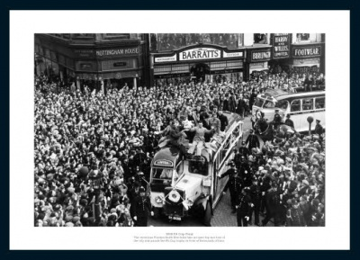 Preston North End 1938 FA Cup Final Open Top Bus Photo Memorabilia