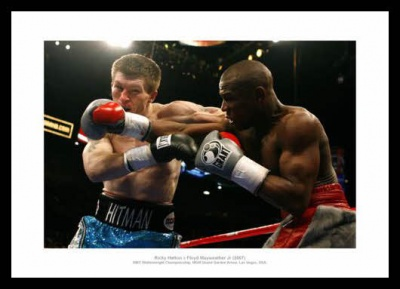 Ricky Hatton v Floyd Mayweather Jnr 2007 World Title Photo Memorabilia