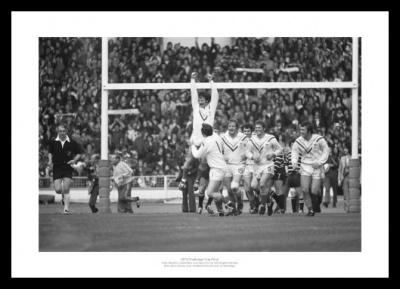 Warrington 1974 Rugby League Challenge Cup Final Photo Memorabilia