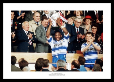 Wigan 1991 Rugby League Challenge Cup Final Photo Memorabilia
