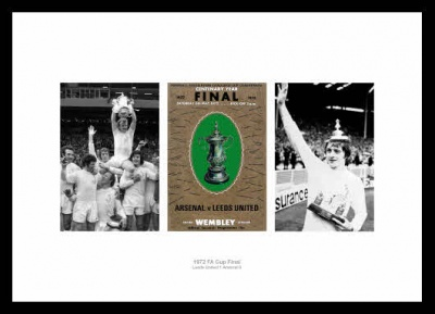 Leeds United 1972 FA Cup Final Photo Memorabilia
