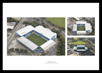 Sheffield Wednesday Hillsborough Stadium Aerial Photo Memorabilia