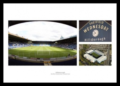 Sheffield Wednesday Hillsborough Football Stadium Photo Memorabilia