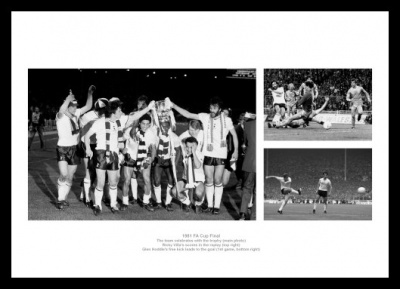 Tottenham Hotspur 1981 FA Cup Final Photo Memorabilia