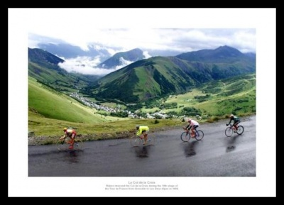 Le Col de la Croix Tour de France Photo Memorabilia