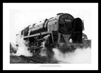 British Rail Evening Star 1960 Historic Steam Train Print