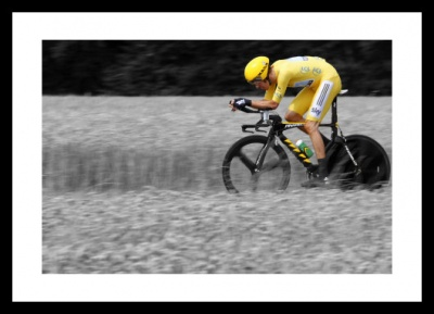 Bradley Wiggins Time Trial Tour de France Spot Colour Photo Memorabilia