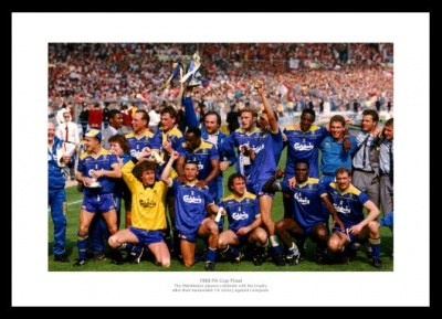 Wimbledon FC 1988 FA Cup Final Team Photo Memorabilia