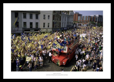 Wimbledon FC 1988 FA Cup Final Open Top Bus Photo Memorabilia