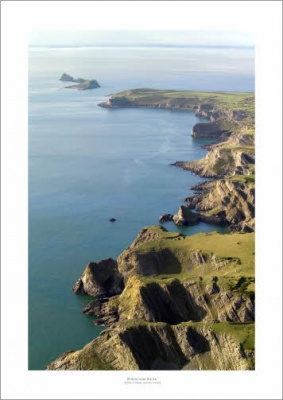 Worms Head, Gower Coast Aerial Landscape Photograph