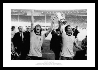 Arsenal 1971 FA Cup Final George & McLintock Photo Memorabilia