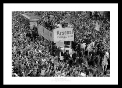 Arsenal 1971 Double Open Top Bus Photo Memorabilia
