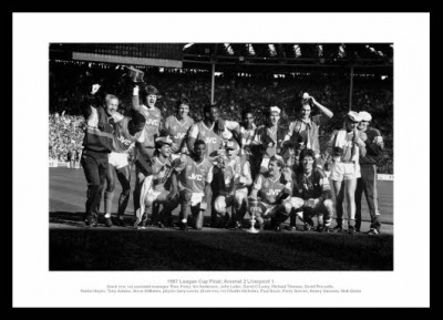 Arsenal 1987 League Cup Final Team Photo Memorabilia