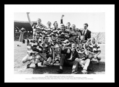 Celtic FC 1988 League Champions Team Photo Memorabilia