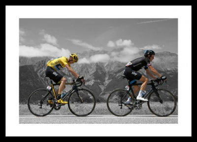 Chris Froome & Geraint Thomas 2015 Tour de France Spot Colour Photo