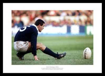 Gavin Hastings 1991 Five Nations Scotland Rugby Photo Memorabilia
