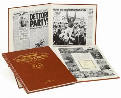 Personalised Horse Racing Historic Newspaper Memorabilia Book