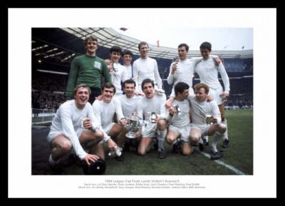 Leeds United 1968 League Cup Final Team Photo Memorabilia