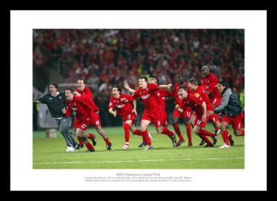 Liverpool 2005 Champions League Final Winning Penalty Photo Memorabilia