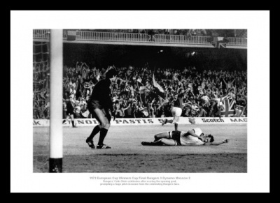 Rangers FC 1972 European Cup Winners Cup Goal Photo Memorabilia