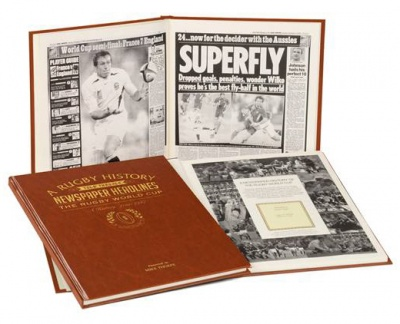Personalised Rugby World Cup Historic Newspaper Book
