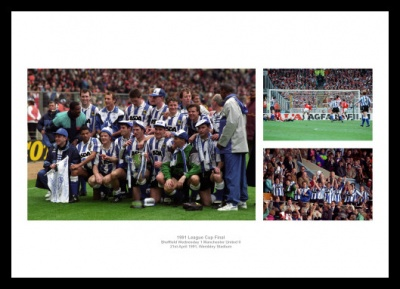 Sheffield Wednesday 1991 League Cup Final Photo Memorabilia