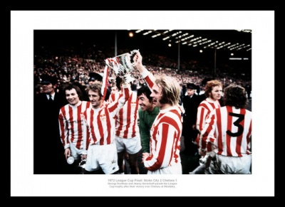 Stoke City 1972 League Cup Final Team Photo Memorabilia