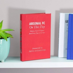 Personalised Arsenal 'On This Day' Book